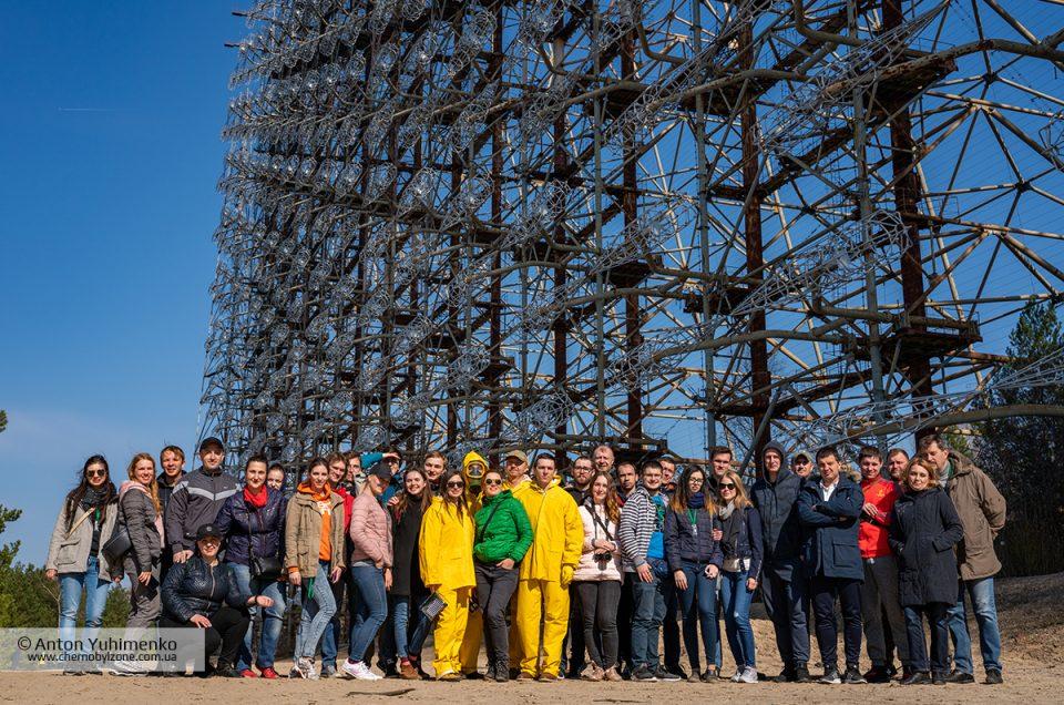 Групповые фотографии из экскурсий в Чернобыль