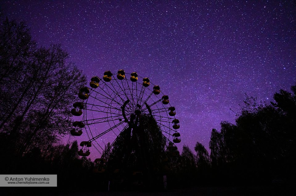 Ночное небо в Припяти