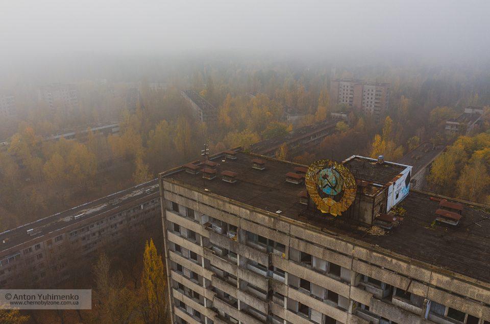 Туманное утро в Припяти