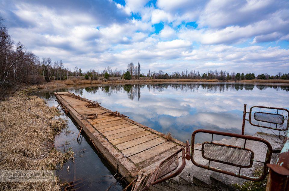 Городской речной порт в Припяти