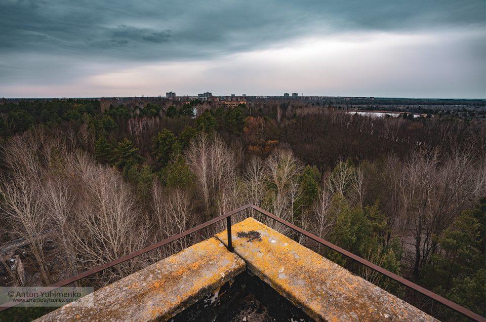 Все 16-этажные дома в Припяти на одном кадре