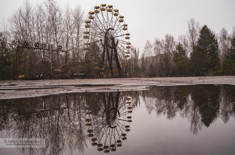 Необычный ракурс съемки самой известной локации в Припяти
