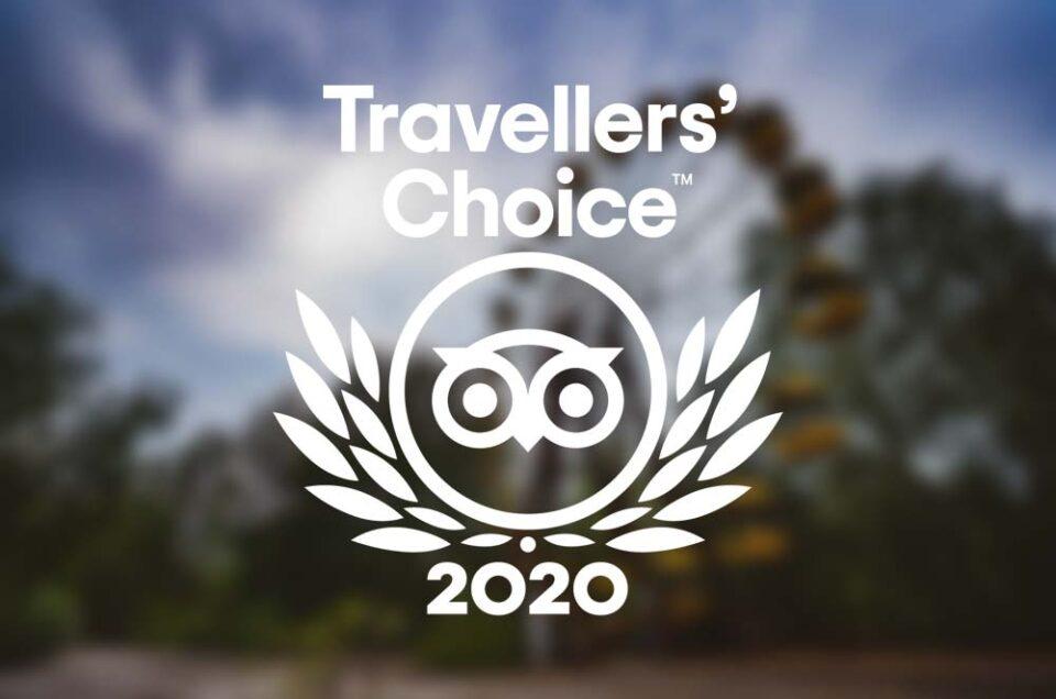 Мы получили награду TripAdvisor Travellers Choise 2020!